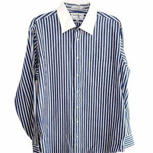 Vintage BURBERRY LONDON Striped Button Down Shirt